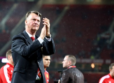 Van Gaal was booed by some sections of Old Trafford last night.