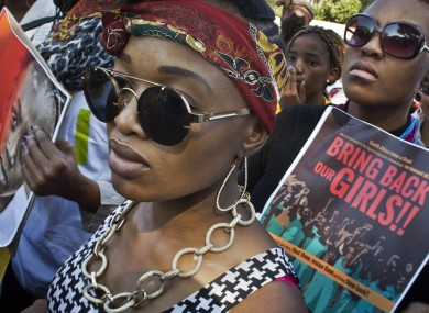 A 2014 protest in South Africa in solidarity against the abduction of the schoolgirls.