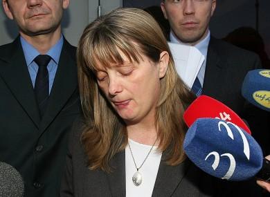 Cynthia Owen outside Dublin County Coroner's Court in 2007.