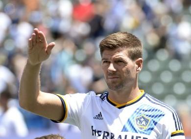 LA Galaxy midfielder Gerrard.