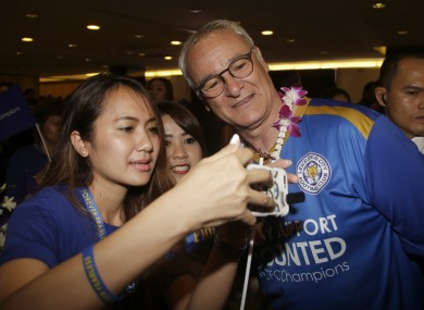 Ranieri and his squad arrived in Bangkok last night.