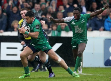 O'Halloran goes over for the match-winning try.
