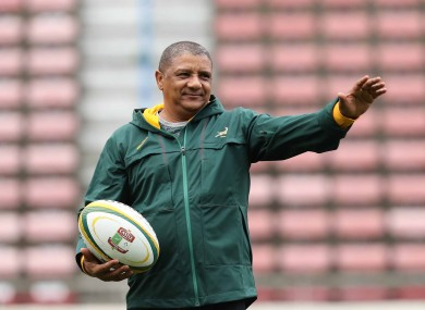 South Africa coach Allister Coetzee.