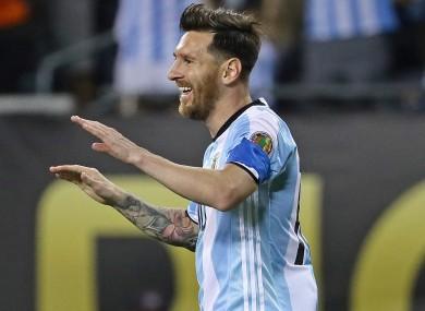 Argentina star Lionel Messi