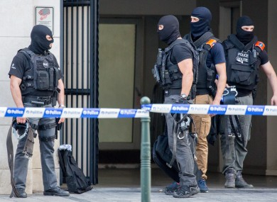 File photo of Belgium police in Brussels earlier this month
