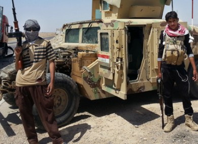 Islamic State group militants in Iraq. (File Photo)