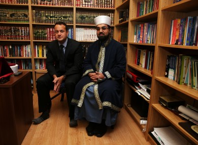 Shaykh Muhammad Umar Al-Qadri [left] and Minister for Social Protection Leo Varadkar pictured in Blanchardstown last year