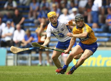 Clare's Eoin Quirke in action against Waterford's Andy Molumby.