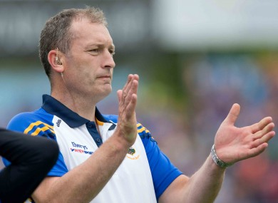 Tipperary minor hurling manager Liam Cahill