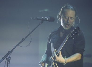 Thom Yorke of Radiohead on stage in London earlier this year