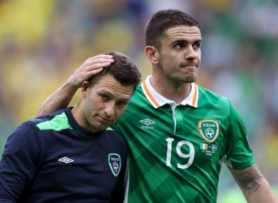 Brady with Hoolahan after the game.