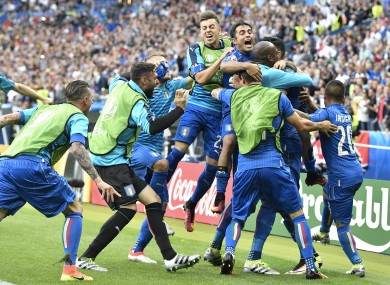 There were joyous scenes as Pelle wrapped up the Italian victory.