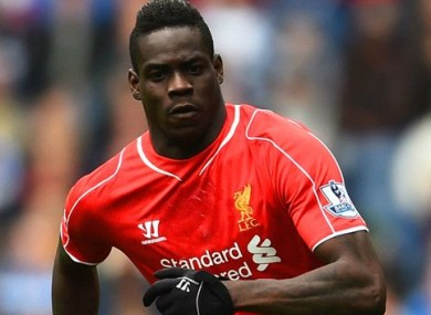 Balotelli has been out of favour at Liverpool recently.