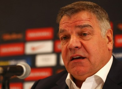 "Sam Allardyce: ""One of the hard bits is having the smallest available pool of English players ever."""