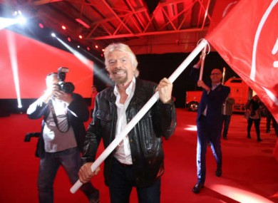 Virgin Group founder Richard Branson at the launch of Virgin Media back in October.