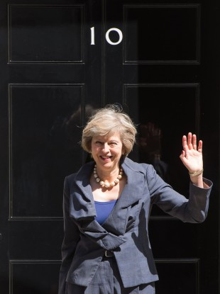 Home Secretary Theresa May leaves 10 Downing Street, London today, after the final Cabinet meeting with David Cameron as Prime Minister.