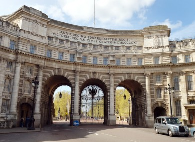 Admiralty Arch in London.