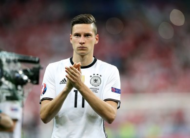 Draxler only joined Wolfsburg last year but could be on the move again.