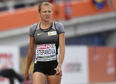 Yuliya Stepanova (file pic).
