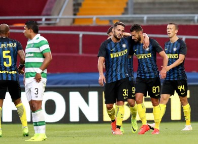 Antonio Candreva scored Inter's second goal of the game.
