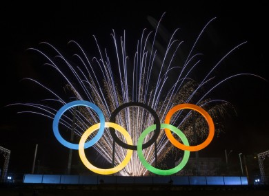 The Olympic rings (file photo).