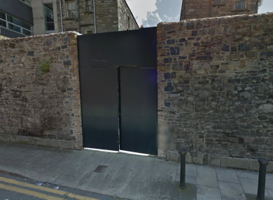 The entrance to the prison on Halston Street.