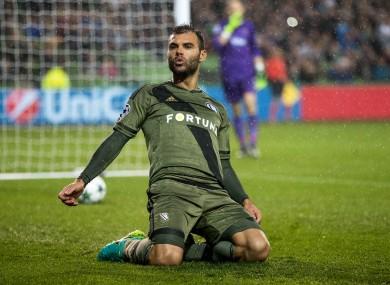 Goalscorer Nemanja Nikolic.