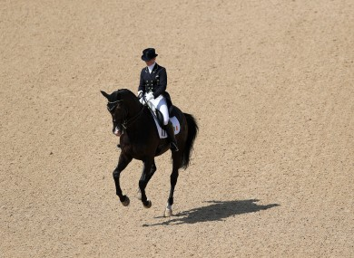 Ireland's Judy Reynolds in action on Vancouver K during the Dressage Individual Grand Prix Freestyle at the Olympic Equestrian Centre.
