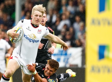 Lyttle goes over for Ulster's second try.