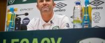 Robbie Keane speaking to the media today.