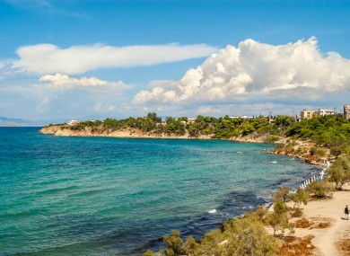 File photo of a beach in Aegina