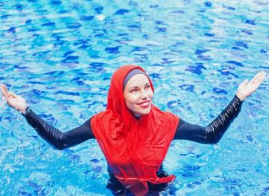 File photo of a woman in a burkini.