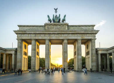 The Brandenburg Gate in Berlin.