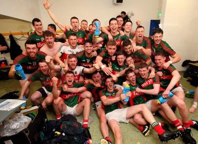 The Mayo U21's celebrating last April's All-Ireland final win.