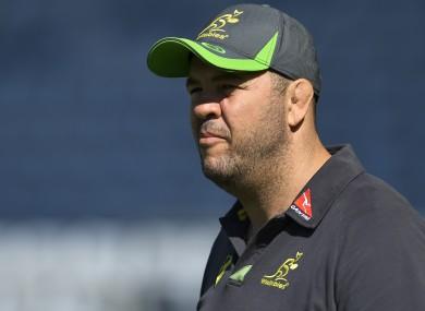 Australia coach Michael Cheika.