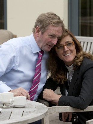 Enda Kenny and Michelle Mulherin were both at yesterday's game. (File photo)