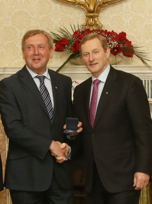 Minister Michael Creed and Taoiseach Enda Kenny.