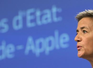 European Union Competition Commissioner Margrethe Vestager during her Apple ruling.