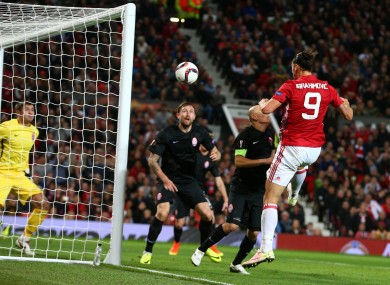 Ibrahimovic directed Rooney's wayward effort into the back of the net.