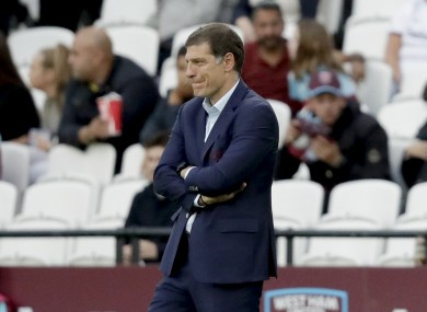 Slaven Bilic's side currently sit in the relegation zone.