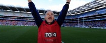 Cork senior ladies football manager Ephie Fitzgerald celebrates at the end of yesterday's All-Ireland final victory over Dublin.