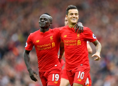 Coutinho was among the goals for Klopp's side this afternoon.