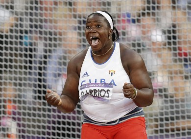 Yarelys Barrios has been disqualified from the Beijing Olympics.