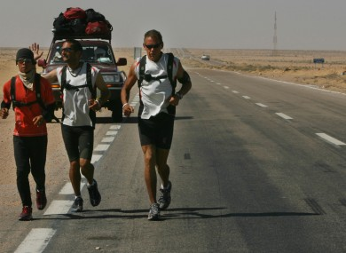 Charlie Engle pictured during the Running the Sahara challenge.