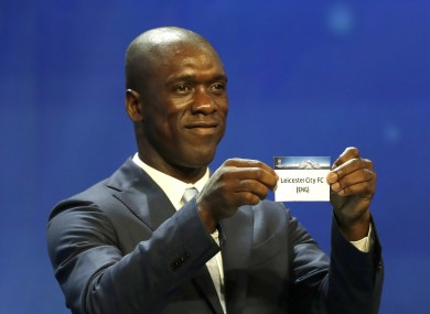 Clarence Seedorf picks out Leicester in the group stage draw.