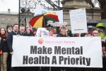 Campaigners oppose the diversion of €12 million in mental health funding in April 2016. The move was reversed after a public outcry.