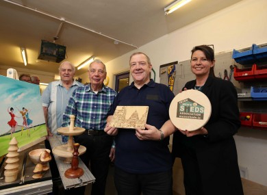 Bill Burrows, Ben Hopkins, Billy McCord and Geraldine Nelson of the North Belfast Men's Shed.
