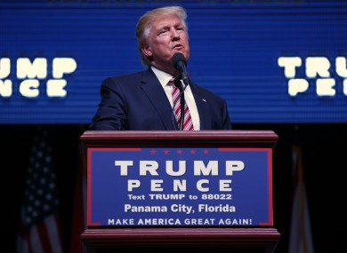 Trump also got the date of the election wrong at a rally in Florida.