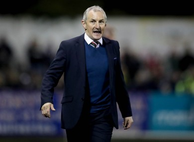 John Caulfield pictured during the Dundalk-Cork match last night.