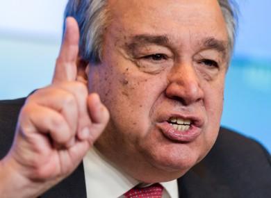 New UN Secretary General Antonio Guterres.